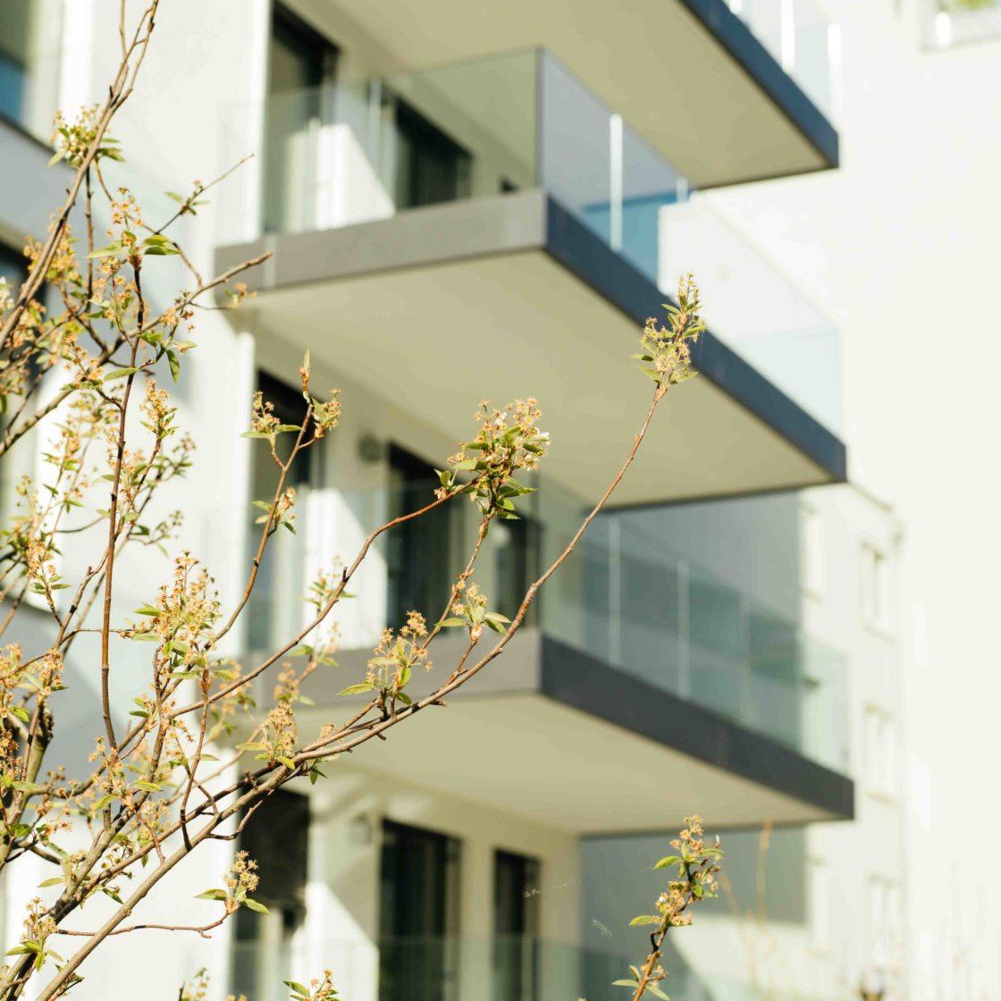 Wohnungen mit Terrasse oder Balkon Alte Donau