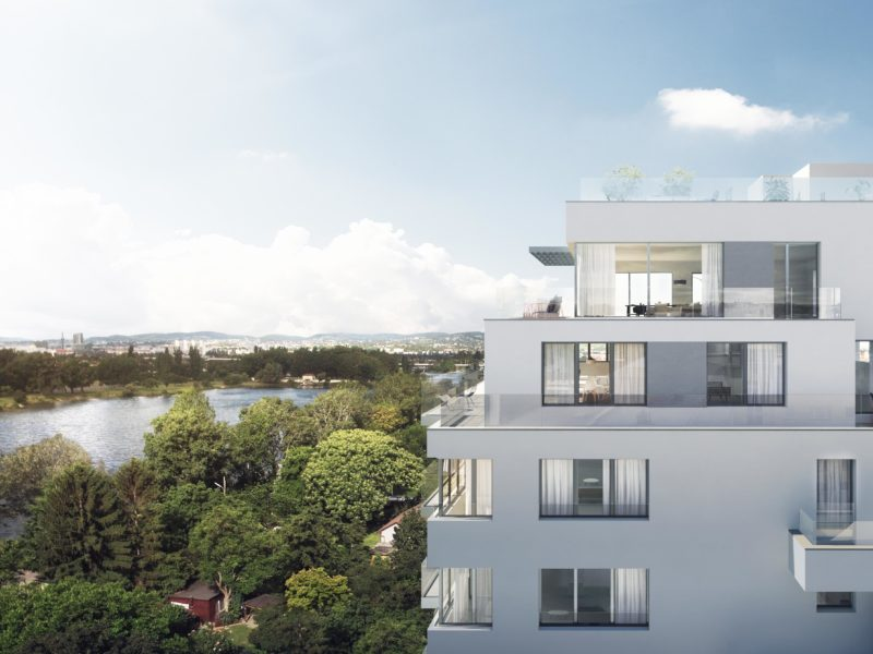 Neubau Floridsdorf Alte Donau Wasserblick