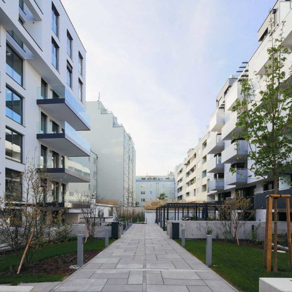Neubau Floridsdorf mit Innenhof